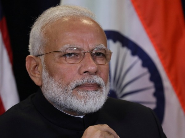 India's Prime Minister Narendra Modi attends a meeting at the United Nations in New York City, New York, September 24, 2019, photo by Jonathan Ernst/Reuters