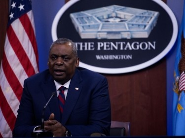 U.S. Secretary of Defense Lloyd J. Austin III during a virtual meeting at the Pentagon, in Washington, D.C., May 5, 2021, photo by Chad McNeeley/U.S. Department of Defense