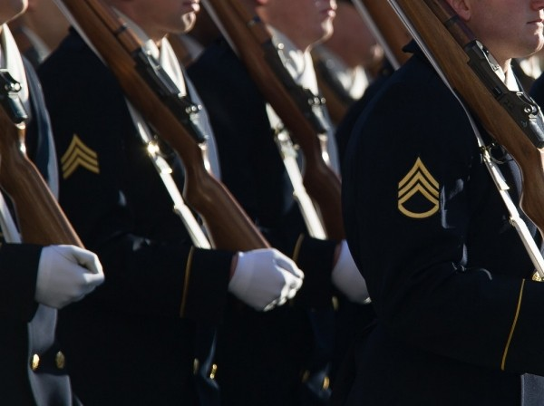 U.S. Army soldiers participate in a parade in Washington, D.C., January 21, 2013, photo by Staff Sgt. Teddy Wade/U.S. Army