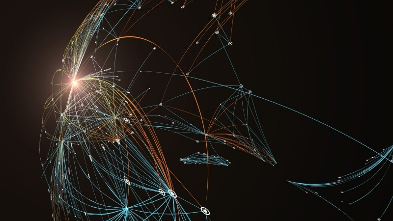 Connected dotted lines representing a network, image by liuzishan/Getty Images
