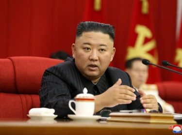 North Korean leader Kim Jong-un speaks during the 3rd Plenary Meeting of 8th Central Committee of the Workers' Party of Korea in Pyongyang, North Korea, in an image released June 17, 2021, photo by KCNA via Reuters