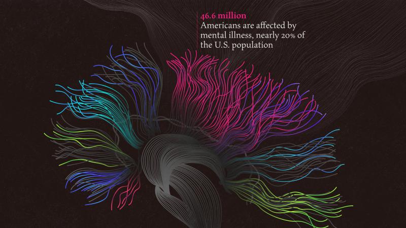 Imaging Mental Health in America, design by Giorgia Lupi