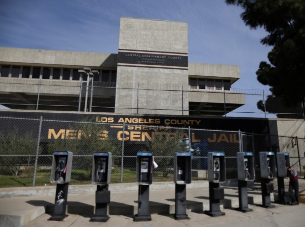 The Los Angeles County Men's Jail in Los Angeles, California, February 16, 2021, photo by Lucy Nicholson/Reuters