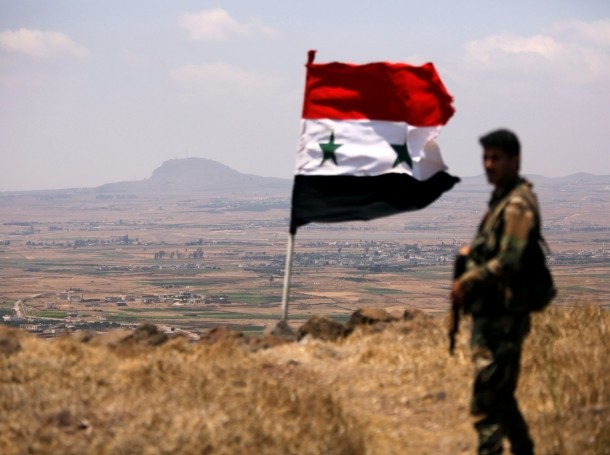 A soldier loyal to Syria's President Bashar al-Assad's forces is seen in Quneitra, Syria, July 22, 2018