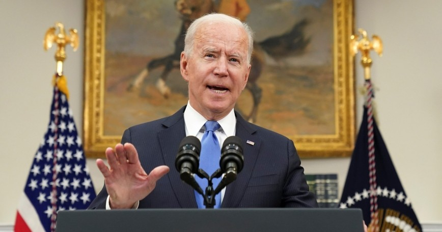 U.S. President Joe Biden speaks about the Colonial Pipeline shutdown at the White House in Washington, D.C., May 13, 2021, photo by Kevin Lamarque/Reuters