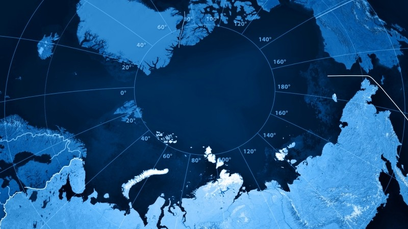 Topographic map showing Russia and the Arctic region, image by FrankRamspott/Getty Images