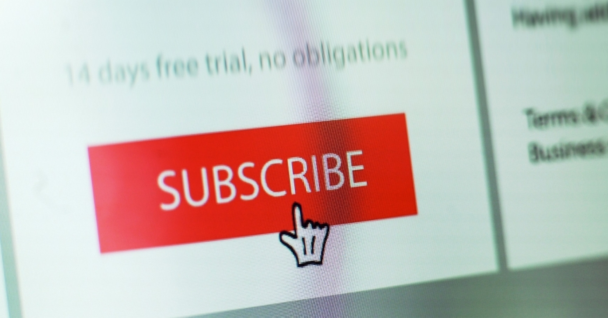 Close-up image of a subscribe button on a website, photo by Laurence Dutton/Getty Images