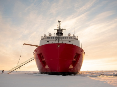 The U.S. Coast Guard Cutter Healy in the ice about 715 miles north of Barrow, Alaska, in the Arctic, October. 3, 2018, photo by Senior Chief Petty Officer NyxoLyno Cangemi/U.S. Coast Guard
