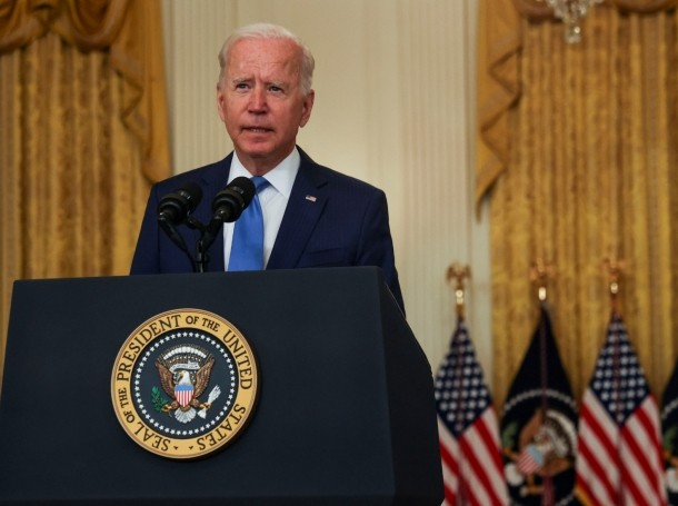 U.S. President Joe Biden delivers remarks in the East Room of the White House in Washington, D.C., September 16, 2021, photo by Leah Millis/Reuters