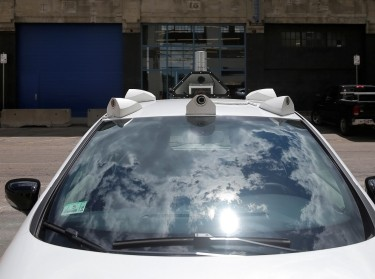 A self-driving car being developed by nuTonomy