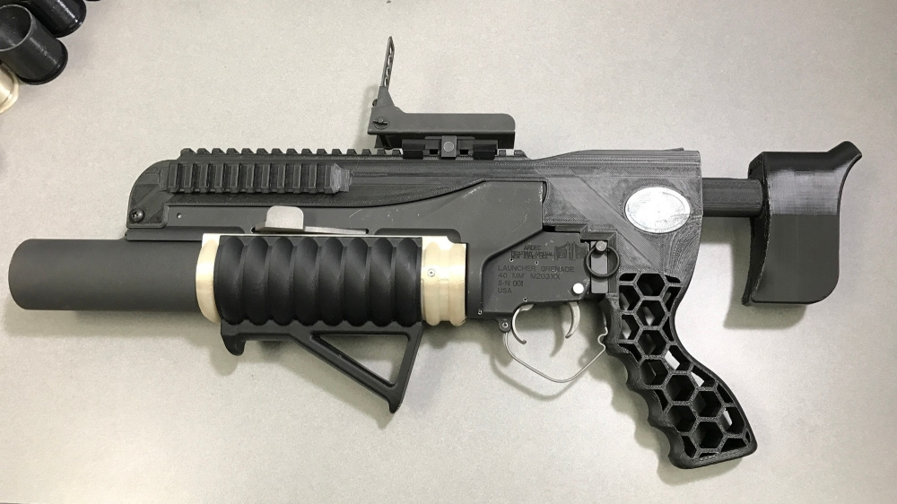 The U.S. Army's 3D printed grenade launcher, R.A.M.B.O.