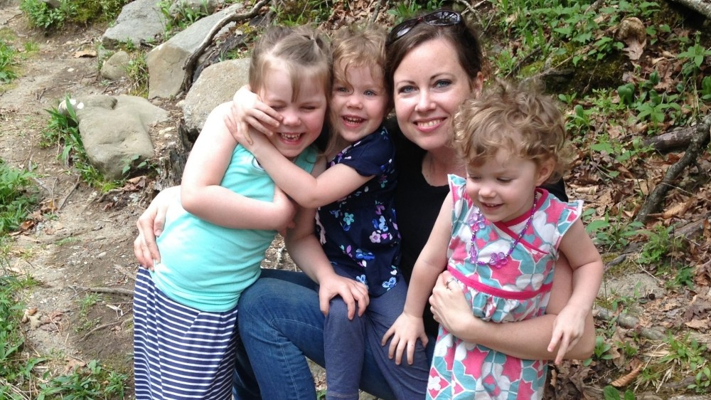 Kristin O'Meara and her three daughters