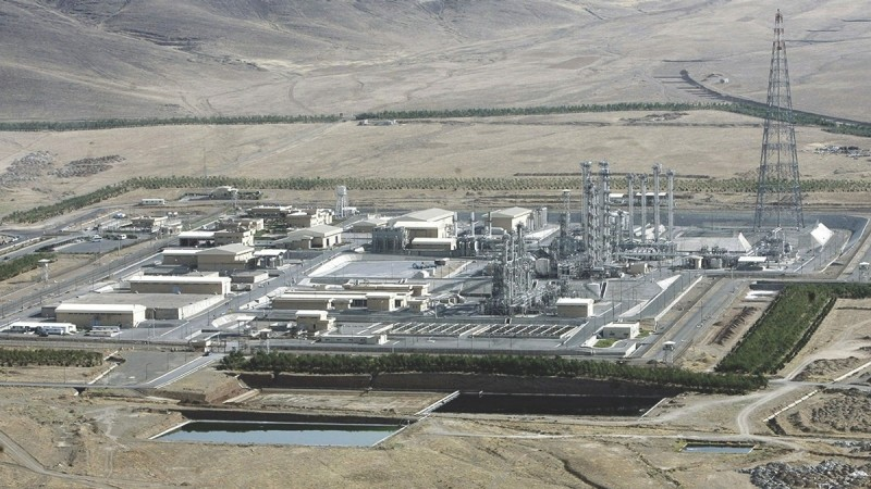 Aerial view of a heavy-water production plant in the central Iranian town of Arak