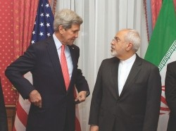 U.S. Secretary of State John Kerry and Iranian Foreign Minister Javad Zarif
