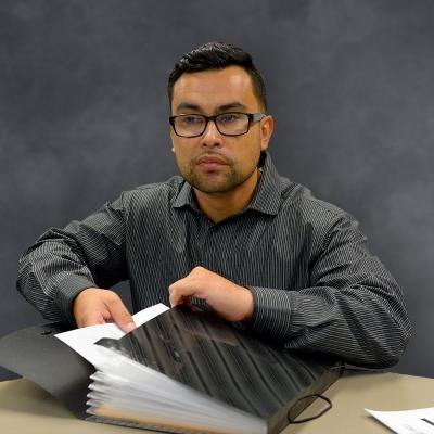 Veteran Angel Coronado at the Compton WorkSource Center Job center