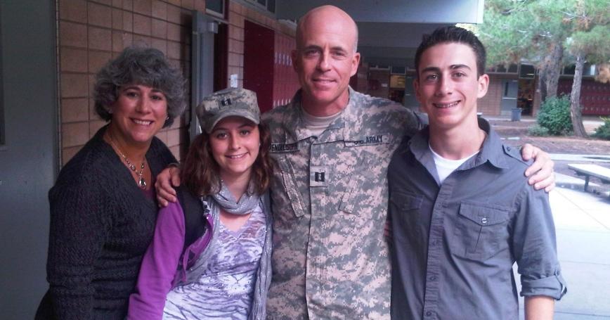Debra Mendelsohn (left) poses with her husband, Bill (center), and their two children, Emelie and Doug, in November 2010
