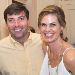 Wilkins Kearney (left) poses with his wife, Lilla Wright Kearney