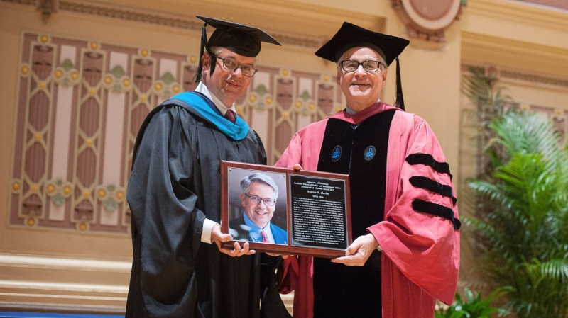Andrew Hoehn received a Distinguished Alumnus Award from the University of Pittsburgh Graduate School of Public and International Affairs on April 27, 2017