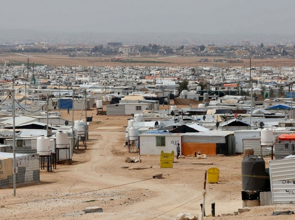A view of the Zaatari refugee camp in Jordan, where nearly 80,000 Syrian refugees were living in March 2017