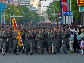 Military parade in Pyongyang, October 2015