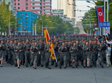 Military parade in Pyongyang, October 2015