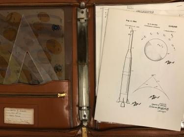 Mert Davies' briefcase in the 1960s