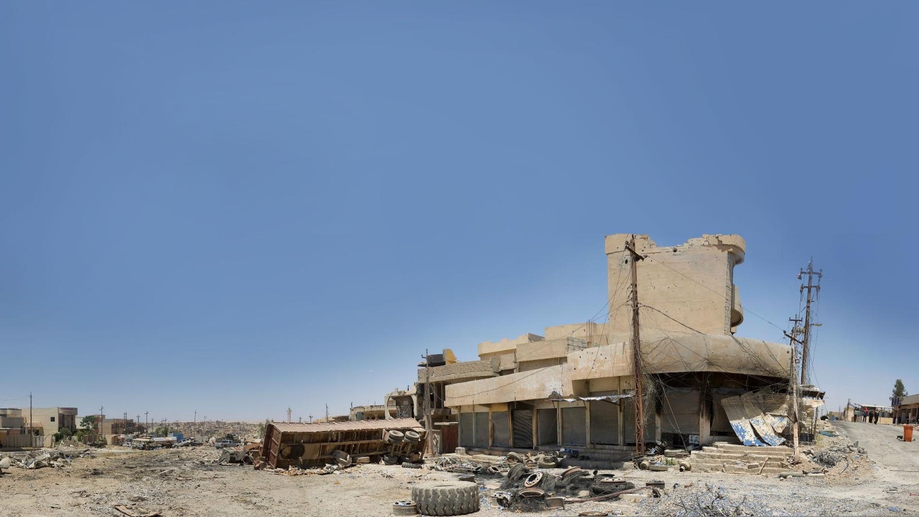 The extensive destruction of West Mosul, Iraq, June 2017