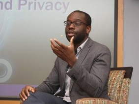 Osonde Osoba in a RAND panel discussion in Pittsburgh, Pennsylvania, February 20, 2018