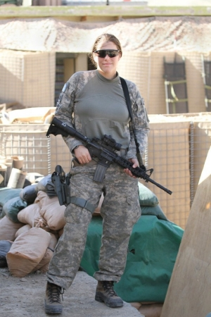 Jordanna Mallach of the Army National Guard at Bagram Air Base in Afghanistan in 2010