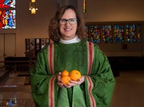 Kathryn Derose at St. Augustine by-the-Sea Episcopal Church in Santa Monica, California