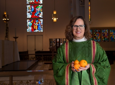 Kathryn Derose at St. Augustine by-the-Sea Episcopal Church in Santa Monica, California