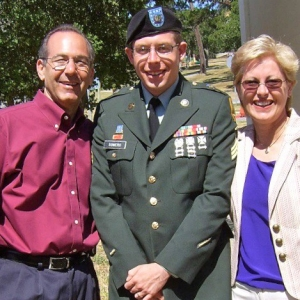 Daniel Somers with his parents, Howard and Jean Somers, photo courtesy of the Somers family