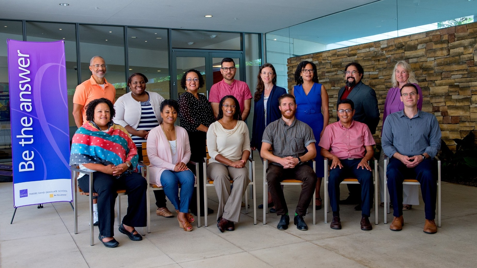 The 2018 cohort of Faculty Leaders, with Shearon Roberts standing in the back row, second from the left, photo by Diane Baldwin/RAND Corporation