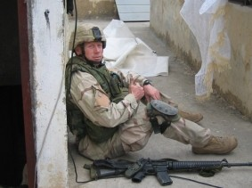 Dan Smee deployed in Mosul, Iraq, photo courtesy of Dan Smee