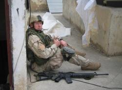 Dan Smee deployed in Mosul, Iraq, photo courtesy of Dan Smee