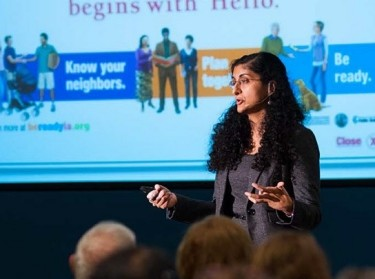 Anita Chandra speaking at an event, photo by Diane Baldwin/RAND Corporation