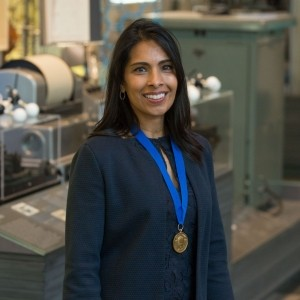 Biological engineer Sangeeta N. Bhatia, recipient of the Othmer Gold Medal, at the Science History Institute, Philadelphia, Pennsylvania, May 8, 2019, photo by Conrad Erb/Science History Institute