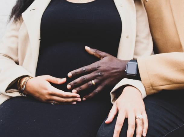 Alysia Davis while pregnant with her husband, photo courtesy of Alysia Davis