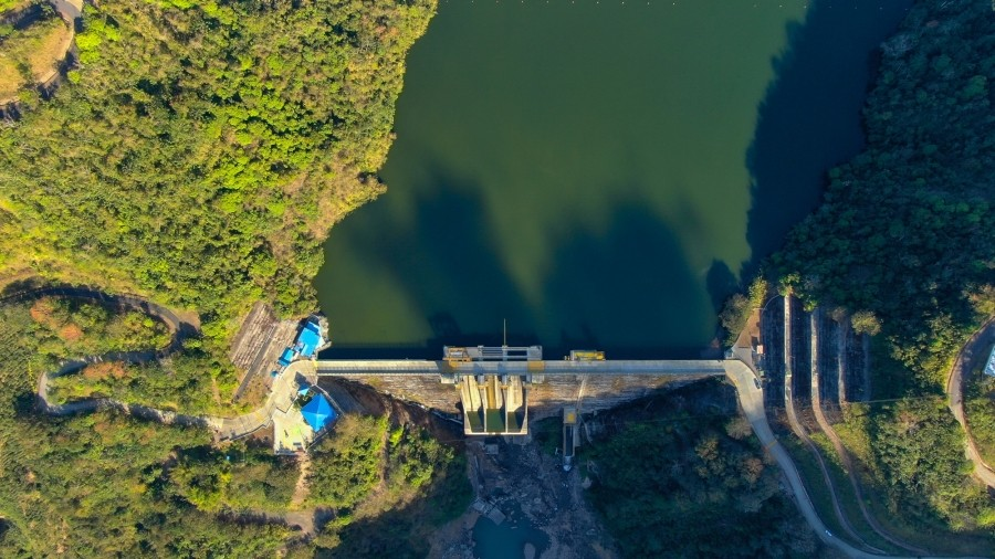 Aerial view of the Pirris Dam in Costa Rica, photo by ErlenJose/Adobe Stock