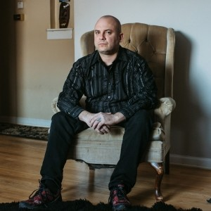 Jeff Schoep, former leader of the National Socialist Movement, the largest neo-Nazi organization in the U.S., at his home near Detroit in 2019, photo by Allison Farrand/The New York Times via Redux