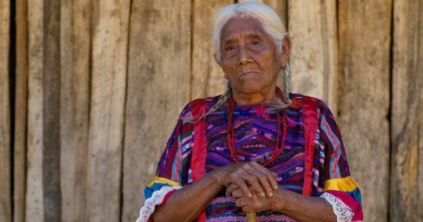 An elderly Mexican woman