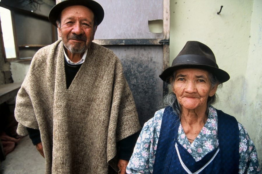 An elderly Latino couple