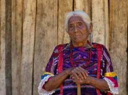 An elderly Mexican woman