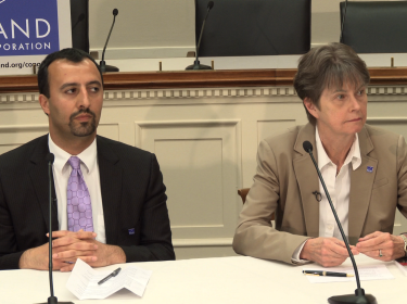 Alireza Nader and Lynn Davis in a panel Congressional Briefing about Iran on June 7, 2012