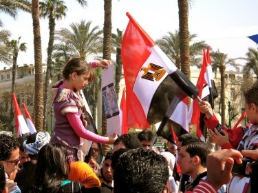 protesters in Tahrir Square, 3/25/11