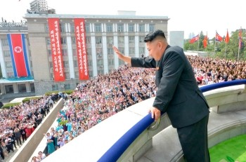 Kim Jong-un during the celebration of the 65th anniversary of North Korea