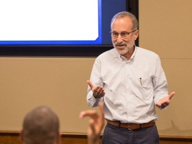 Jeffrey Wasserman leads the 2018 RAND Public Policy Workshop, photo by Grace Evans/RAND Corporation