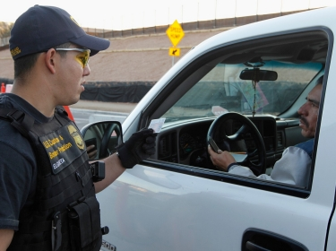U.S. Customs & Border Protection Officer on duty in Arizona