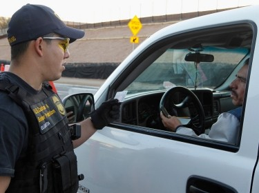 U.S. Customs & Border Protection Officer on duty in Arizona