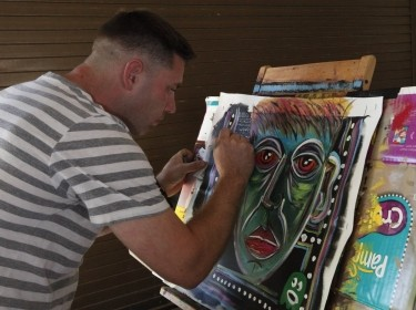 Sergeant therapeutically paints through PTSD healing process